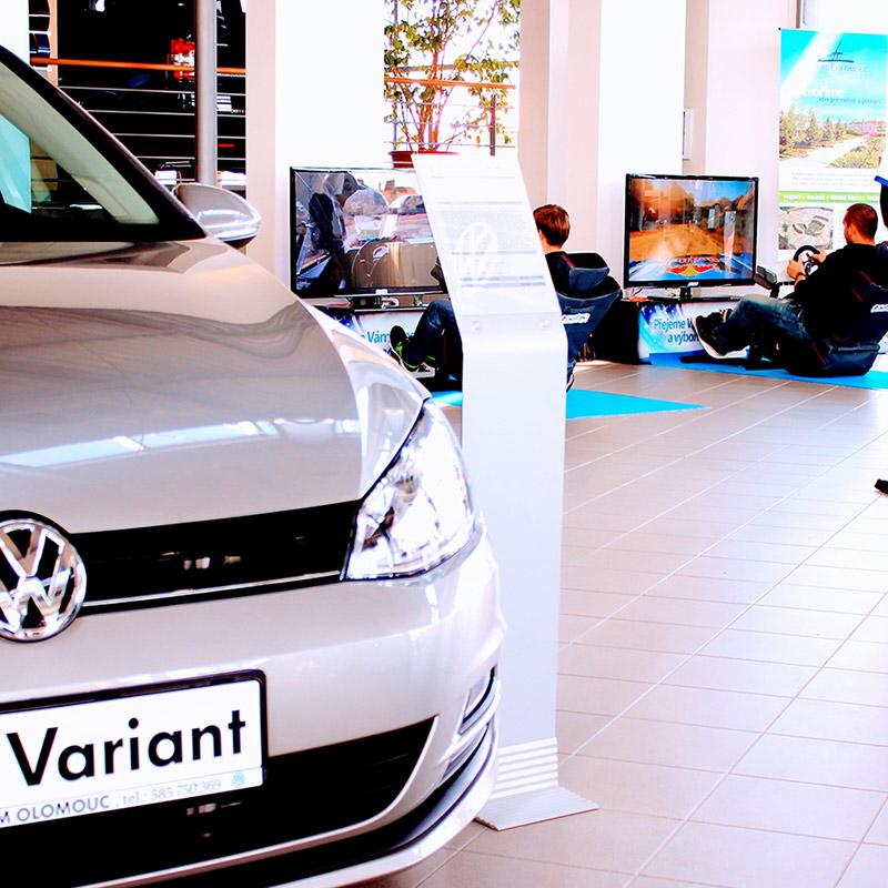 Rally simulátor Super Zábava | Prezentace VW