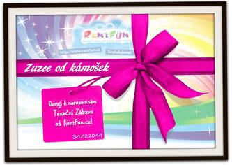 Dárkový poukaz se zábavou RentFun.cz Tanecni purple