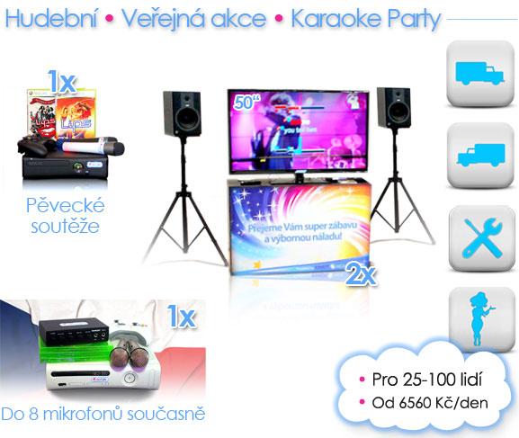Verejne Akce. Hudební simulátory a karaoke. Zajištění hudebních a karaoke akcí, party. Hudební firemní večírky