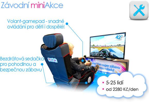 Akce na klíč firemní akce Závodní atrakce a simulátory