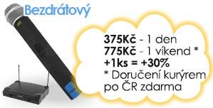 pronájem bezdrátových mikrofonů Brno Praha Ostrava