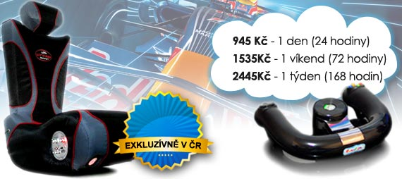 Ceny na pronájem Formule 1 simulátoru: od 825 Kč/den