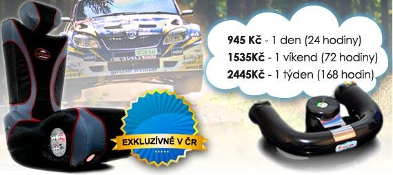 Ceny na pronájem rally autosimulátoru Varianta 1 - Základní: 825 Kč/den, 1215 Kč/víkend, 2145 Kč/týden.