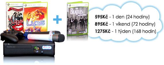 Ceny na pronájem RentFun Karaoke balíčku: 190 Kč/den, 350 Kč/víkend, 575 Kč/týden.
