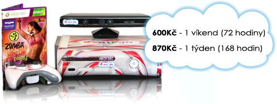 Ceny na pronájem RentFun Zumba Fitness balíčku: 855 Kč/týden.