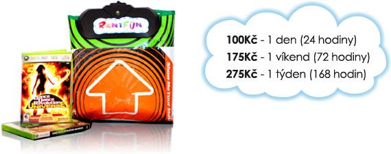 Ceny na pronájem taneční podložky: 100 Kč/den, 175 Kč/víkend, 275 Kč/týden.