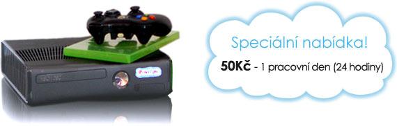 Ceny na pronájem Xbox 360: 50 Kč/den!
