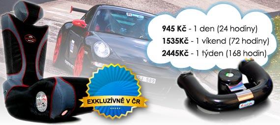 Racing simulátor sportovních vozů Základní, pronájem od 825 Kč/den, 1215 Kč/víkend, 2145 Kč/týden.