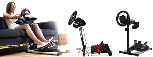 Pujcovna držáku / stojanu volantu a pedálů  RennSport Wheel Stand V2