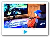 Video pronájem Rally simulátoru. Varianta - Základní. Pronájem atrakcí pro firemní akce.