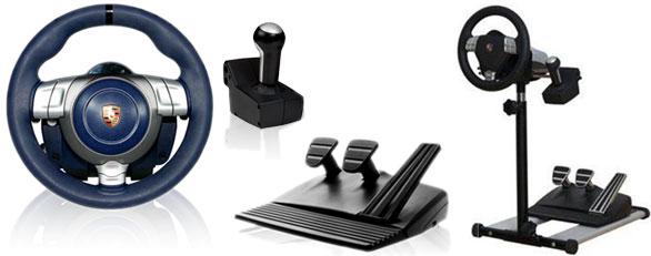 Půjčovna volantu Fanatec Porsche 911 Carrera Wheel + Držák volantu a pedálů RennSport Wheel Stand V2