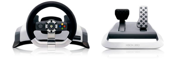Půjčovna volantu Microsoft Xbox 360 Wireless Racing Wheel