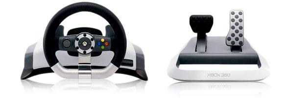 Půjčovna volantu Microsoft Xbox 360 Wireless Racing Wheel