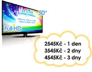 pronájem LCD TV Pujcovna LCD Kinect Brno Praha Ostrava