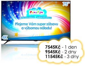 LED pronájem TV plazmy Pujcovna LCD Kinect Brno Praha Ostrava