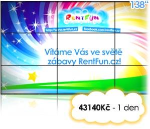 pronájem LCD stěny Pujcovna Plazma Kinect Brno Praha Ostrava
