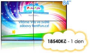 Pronajem LCD stěny pro Kinect Xbox Brno Praha Ostrava