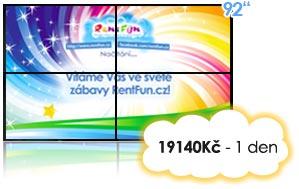 pronájem stěny LCD TV Pujcovna LCD Kinect Brno Praha Ostrava