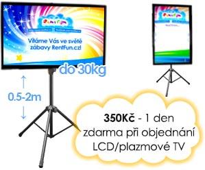 Pronajem stojanu pro LCD s Kinect Xbox Brno Praha Ostrava